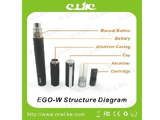 Colorful Pen Style E-cigarette Ego W with 350/650/900/1100mah Battery