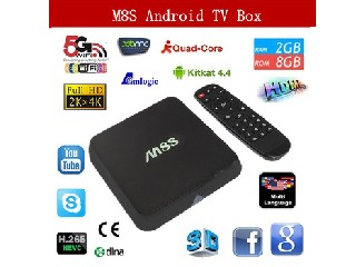 Vensmile M8S Amlogic S812 Quad Core Android TV BoX XBMC 13.2 Android 4.4 KitKat 2G/8G 2.4G/5G WiFi H
