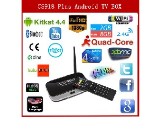 CS918 Pro Smart Android TV Box RK3288 Quad Core Cortex A17 XBMC 2GB RAM 8GB ROM WIFI Full HD 1080P m