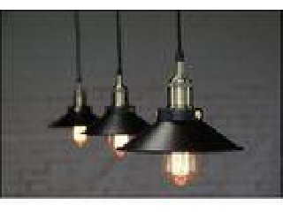 Smooth Cone Shape Industrial Vintage Lighting Interior Black pendent lamp