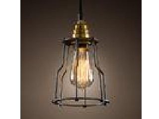 Metal Wire Black Cage Pendant Lamp Industrial Vintage Lighting For Interior Design