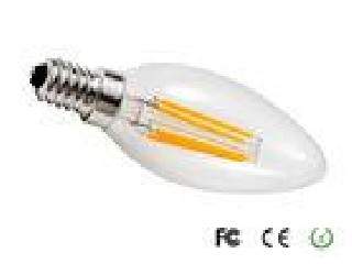 High Performance 110 Volt E12S C35 4W LED Filament Lamp For Meeting Rooms