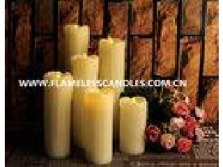 Living room Ivory Wax Electric Votive Candles / White Flameless LED Dripping Candles