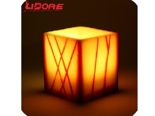 LIDORE Paraffin wax yellow flameless dancing flame moving wick Pattern home decor led candle lights