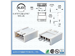 "Vertical Headers / .098""(2.50mm) Wire-to-Board Connectors 2573-xx"