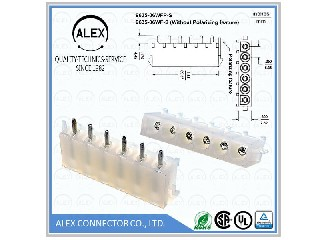 "Vertical Header / .250""(6.35mm) Power Connectors  9635-xxWFP-S"