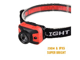 OEM Factory Supply XPG 5W zoomable super bright Logo Printed 3*AAA Dry Battery Powered plasitc led h