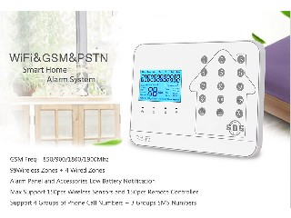 WIFI GSM PSTN Alarm System with Touch Keypad and Android/IOS APP Integrated with Yousee IP Cameras